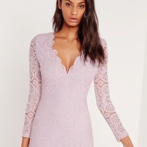 NWT Missguided lilac lace dress